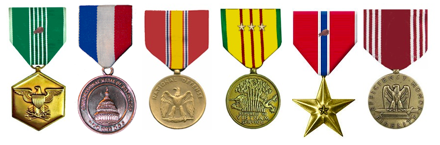 Roger Repstien Military Medals