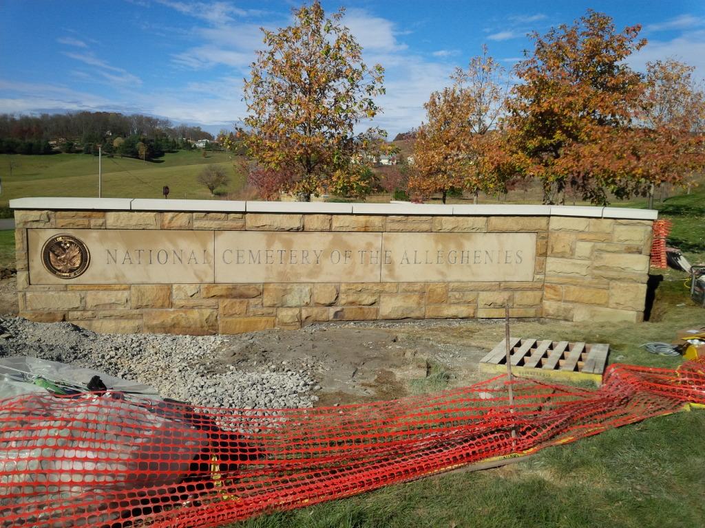 Natl Cemetery Stone Wall
